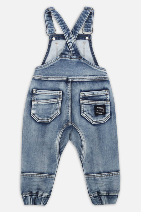 Cargo Dungaree - Light Denim