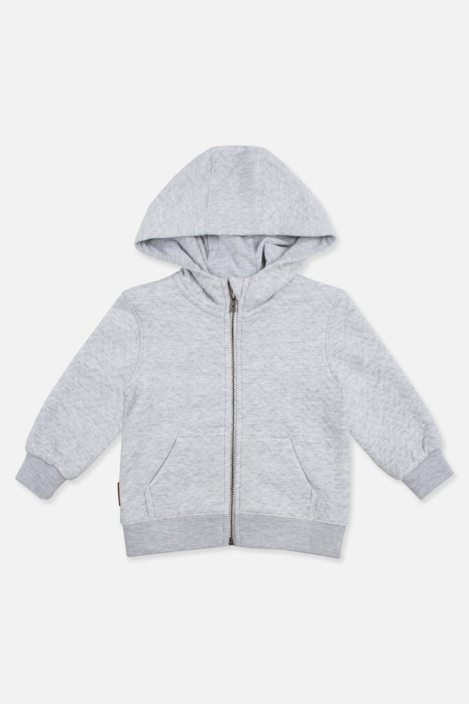 Chevron Zip Thru - Grey