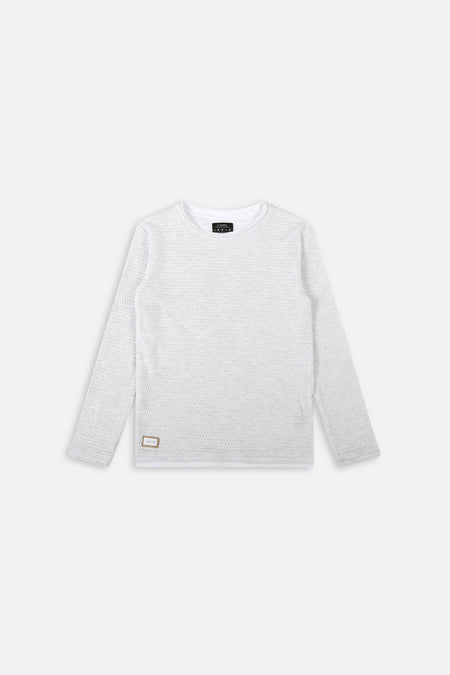 The Tee Knit - Snow Marle