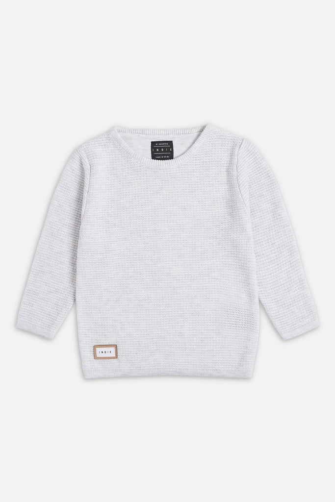 Richland Knit - Ice Grey Marle
