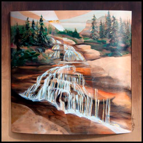 Cynthia Duff Colorado Artist Contemporary Paintings on Wood at Raitman Art Galleries in Breckenridge and Vail Colorado