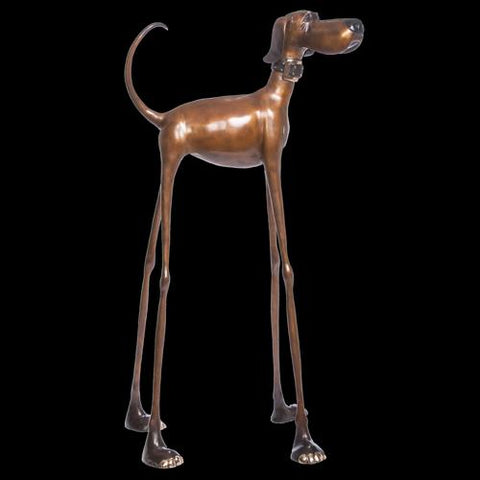 Artist Marty Goldstein Harvey Dog Sculptures in Breckenridge and Vail at Raitman Art Galleries