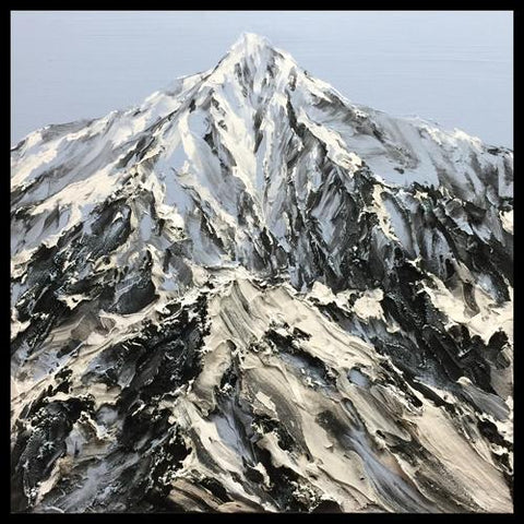 Artist Barak Rozenvain Original Textured Mountain Paintings at Raitman Art Galleries Vail and Breckenridge, Colorado