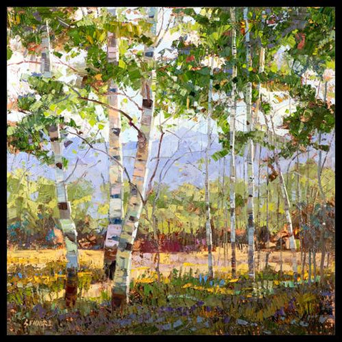 Artist Robert Moore Impressionism Impressionist Aspen Painting Art for Sale Original Oil Painting