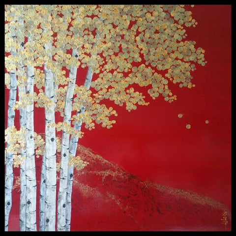 Kate McCavitt Original Aspen Landscape Paintings at Raitman Art Galleries in Breckenridge and Vail, Colorado