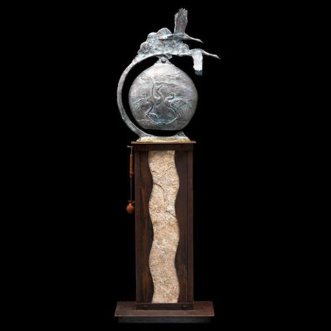 James G Moore Bronze Wildlife Bell and Vessel Sculpture Available at Raitman Art Galleries in Vail and Breckenridge Colorado