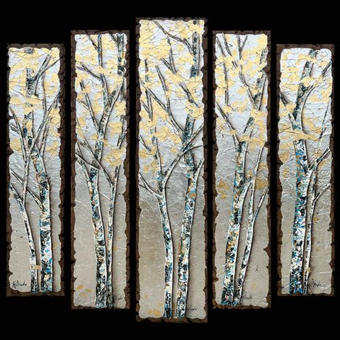 Rolinda Stotts Original Bella Rotta Mountain Flower and Aspen Artwork in Breckenridge and Vail at Raitman Art Galleries