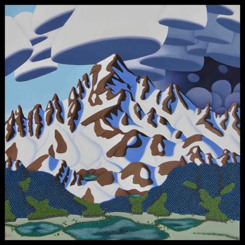 Tracy Felix Original Oil Painting Artwork of Mountains in Breckenridge and Vail at Raitman Art Galleries as seen at Denver Art Museum
