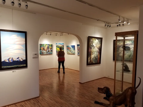 Raitman Art Galleries in Vail and Breckenridge, Colorado. David Gonzales, Tracy Felix, Marty Goldstein, Petras Lukosias