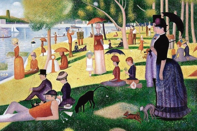 """""""A Sunday Afternoon on the Island of la Grande Jatte 1884-1885 Georges Seurat"""