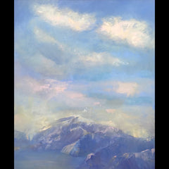 Alpine Glow original oil on canvas painting by artist Judy Greenan