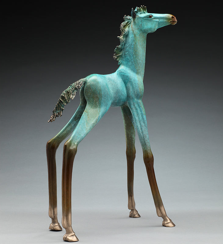 Look Alex Alvis bronze horse sculpture