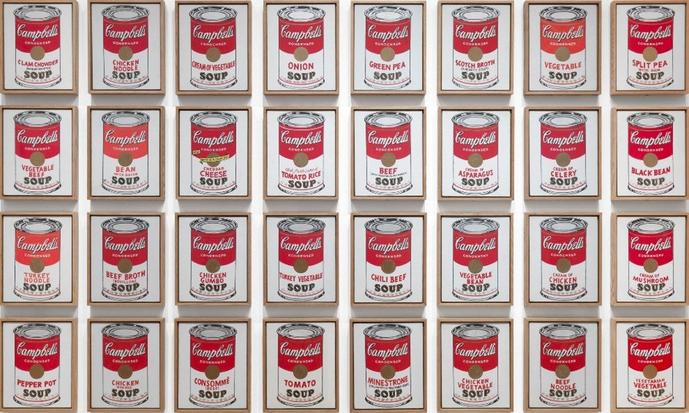 Campbell's Soup Cans 1961 Andy Warhol