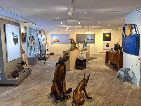 Raitman Art Galleries Vail, Colorado. Showing Paintings and Sculptures by Artists Marty Goldstein, DD LaRue, Roger Hayden Johnson, Mark Yale Harris, Jared & Nicole Davis and Casey Horn