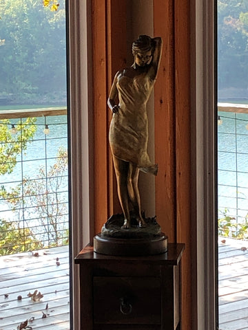 Midnight Breeze Bronze Woman Sculpture by Scy Caroselli