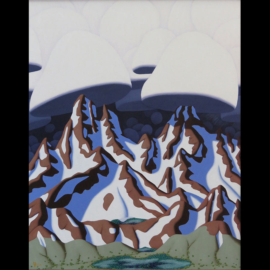 Passing Storm original mountain painting by artist Tracy Felix