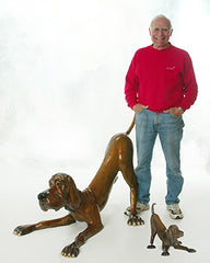 Marty Goldstein Bronze Artist, Sculptor of Whimsical Dogs