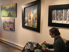 Talia Swartz Painting at Art on a Whim