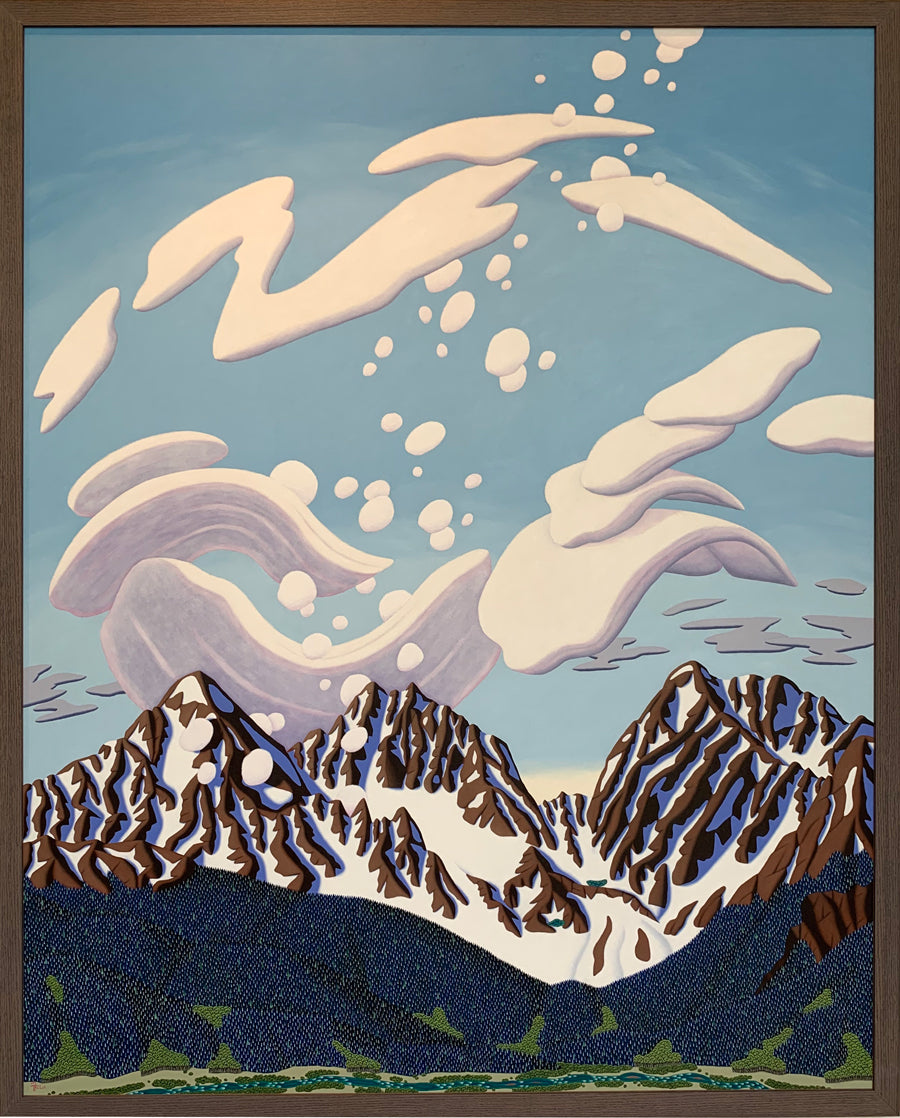 The Three Apostles original mountain painting by artist Tracy Felix