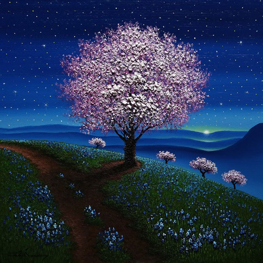 Under The Stars original oil painting by Mario Jung for sale
