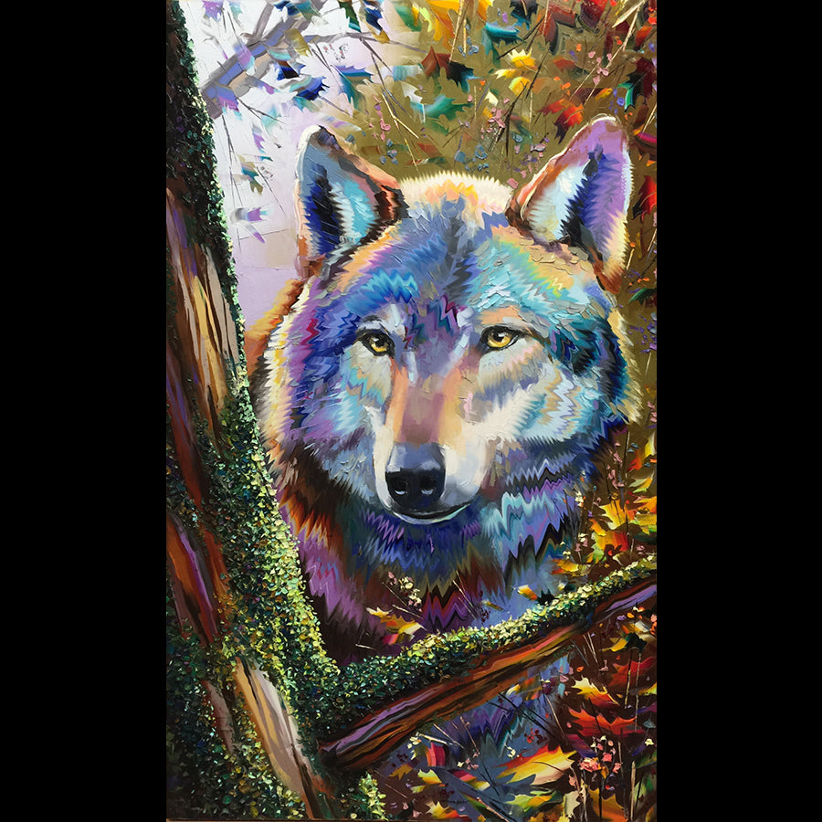 michael roznevain wolf painting