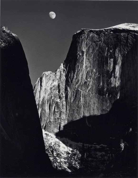 Moon Over Half Dome, 1960 Ansel Adams Raitman Art Gallery
