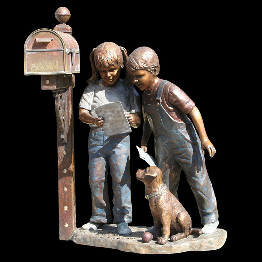 A Letter from Grandma bronze sculpture by artist Marianne Caroselli