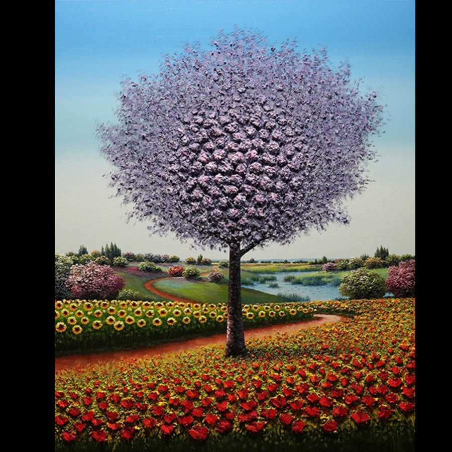 A Love Like No Other one of a kind oil on canvas tree landscape painting by artist mario jung for sale at raitman art galleries