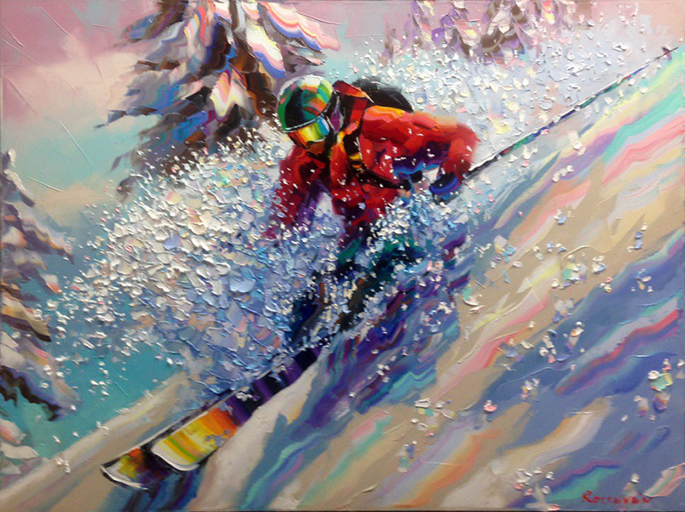 A Perfect Run original oil on canvas painting by artist Michael Rozenvain