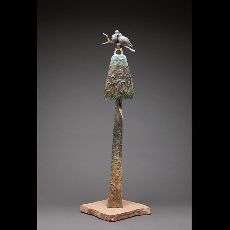 Abundance bronze bell created by Colorado artist James Moore
