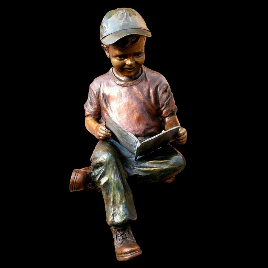 Adventure Tales bronze sculpture by artist Marianne Caroselli