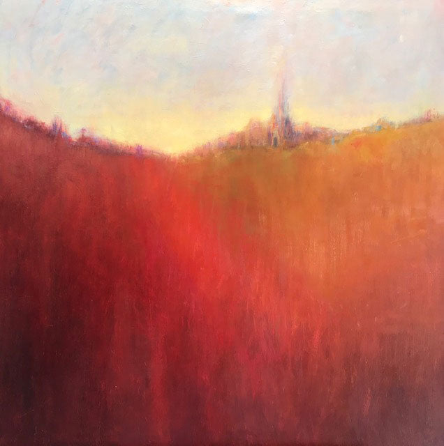 Afterglow original oil on canvas painting by Boulder Colorado artist Judy Greenan