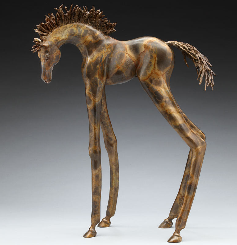 Yata bronze horse sculpture by Colorado artist Alex Alvis