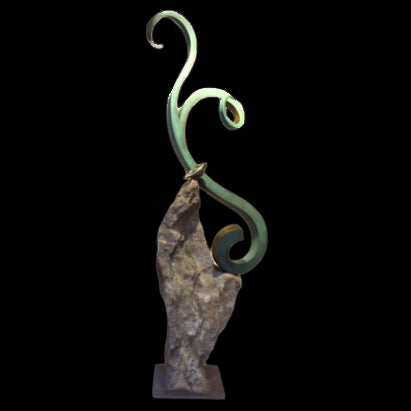 ancient grace outdoor sculpture santa fe sculptor gilberto romero