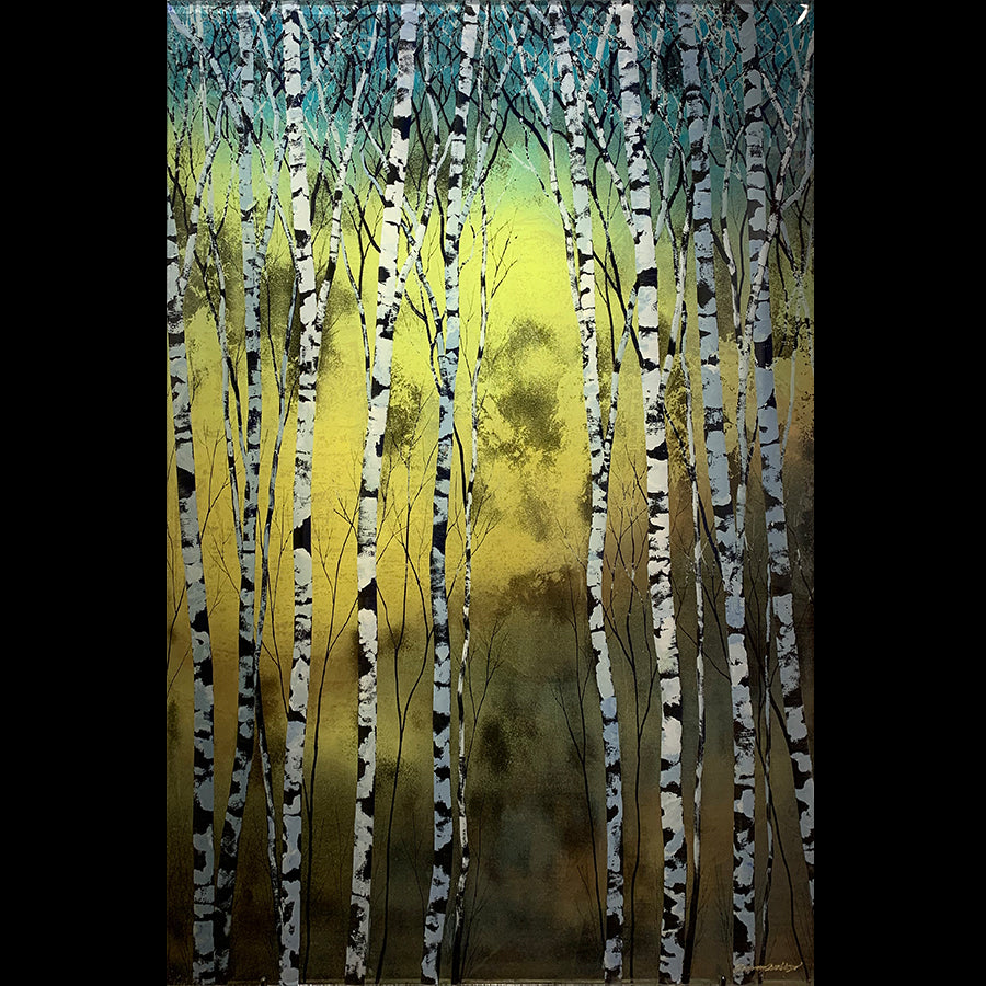 Aquamarine original aspen painting by artist christopher owen nelson for sale at raitman art galleries