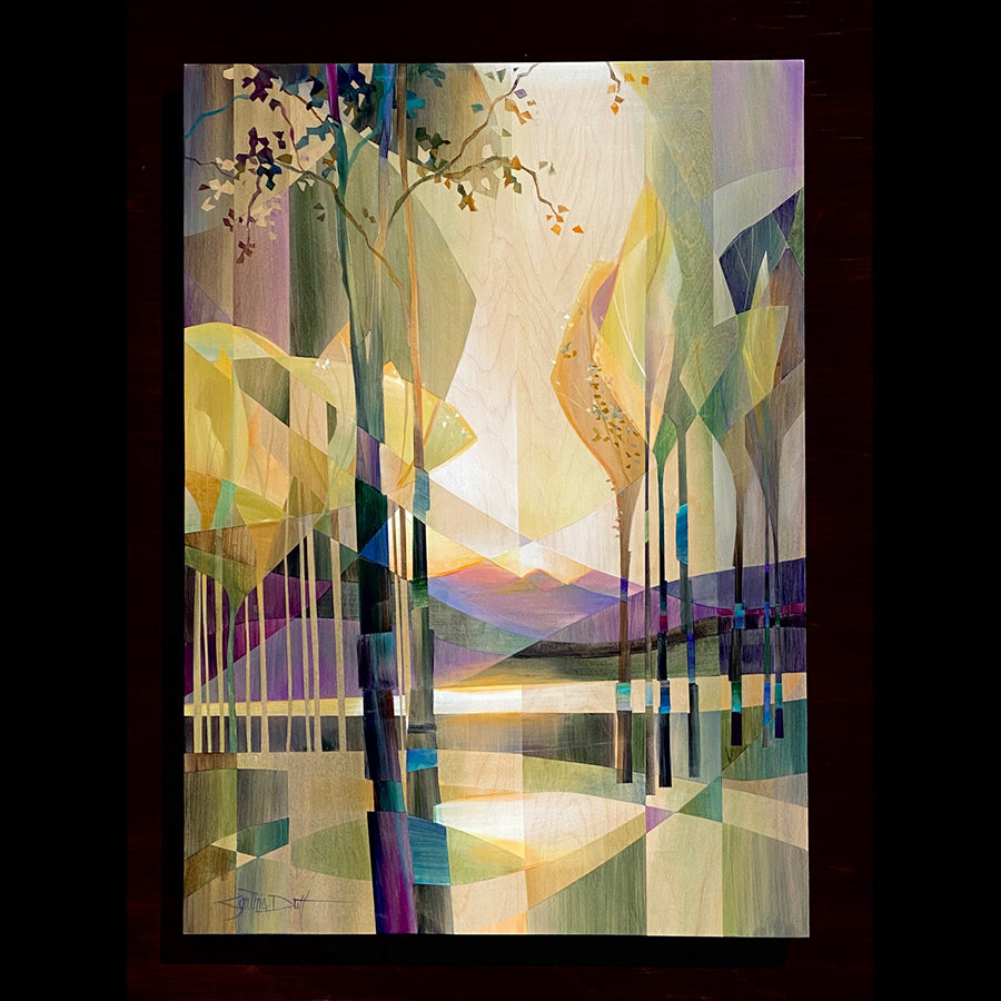 Arvores do Sol aspen painting by artist Cynthia Duff