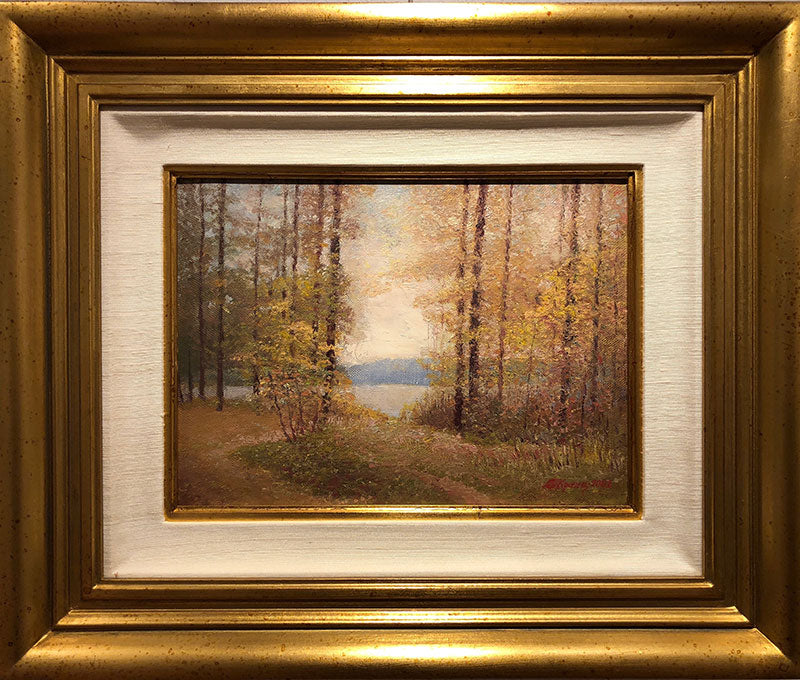 Autumn original oil on canvas painting by russian artist Vladimir Pavlovich Krantz