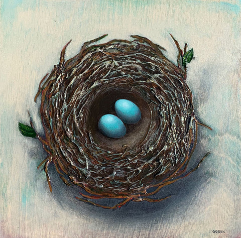Birds Nest Two Eggs