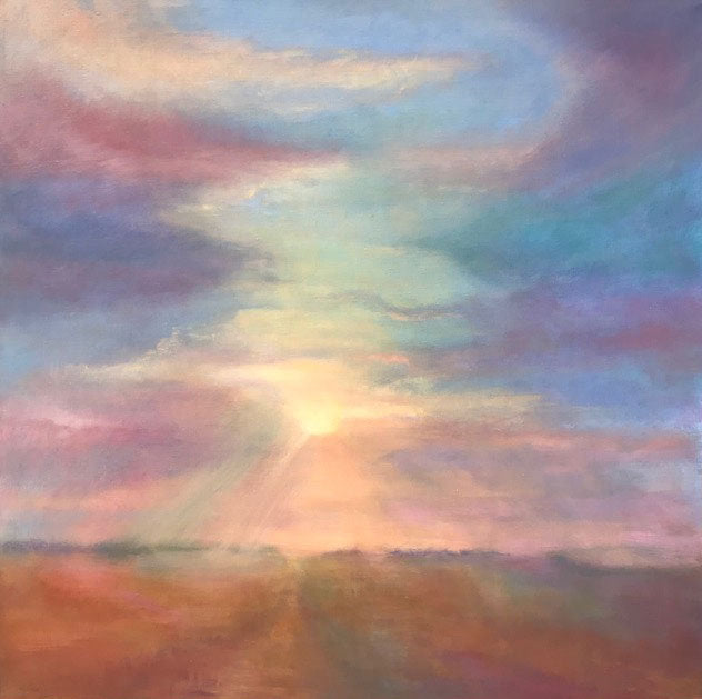 Breaking Through original oil on canvas painting by Colorado artist Judy Greenan