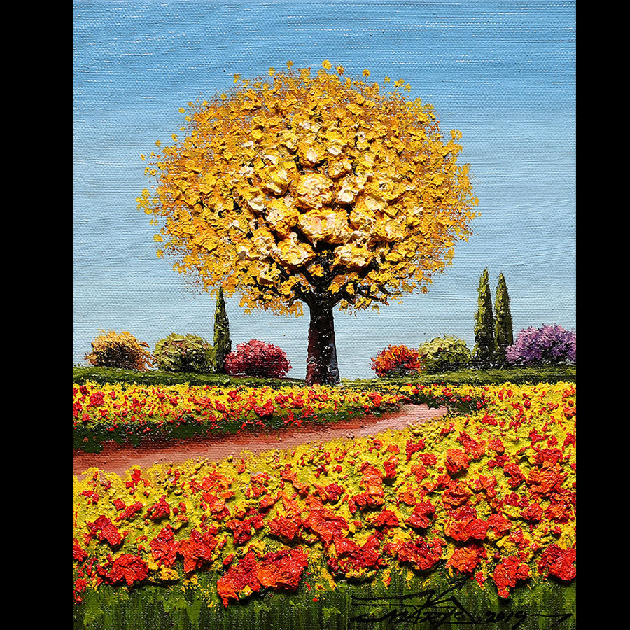 Bring Joy to the World original oil on canvas landscape painting by artist Mario Jung