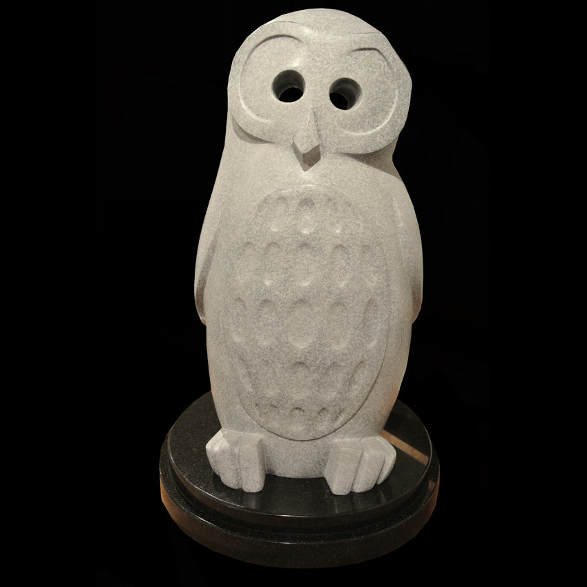 owl sculpture by artist Ellen Woodbury