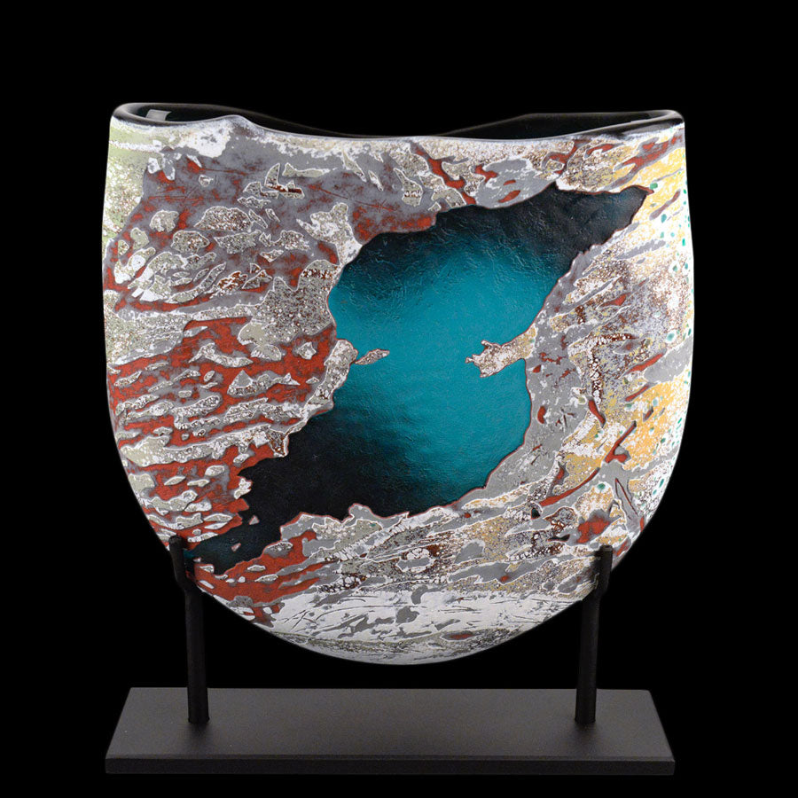Riverway Series - Bubble Lake & Slide Lake original by glass artist Jared and Nicole Davis