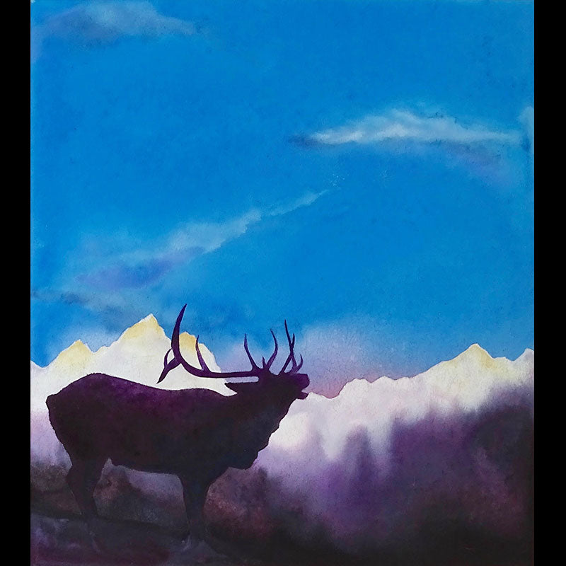 Call Of The Wild grand tetons elk original artist art Kay Stratman for sale