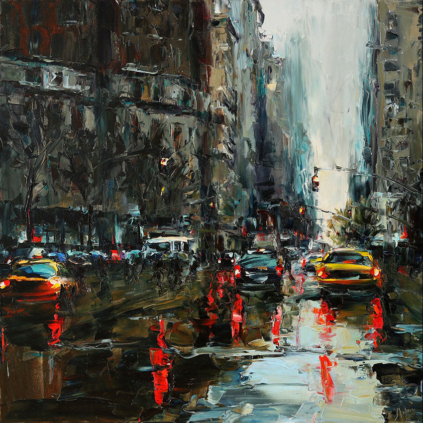 City Nostalgia Oil Painting by Artist Lyudmila Agrich