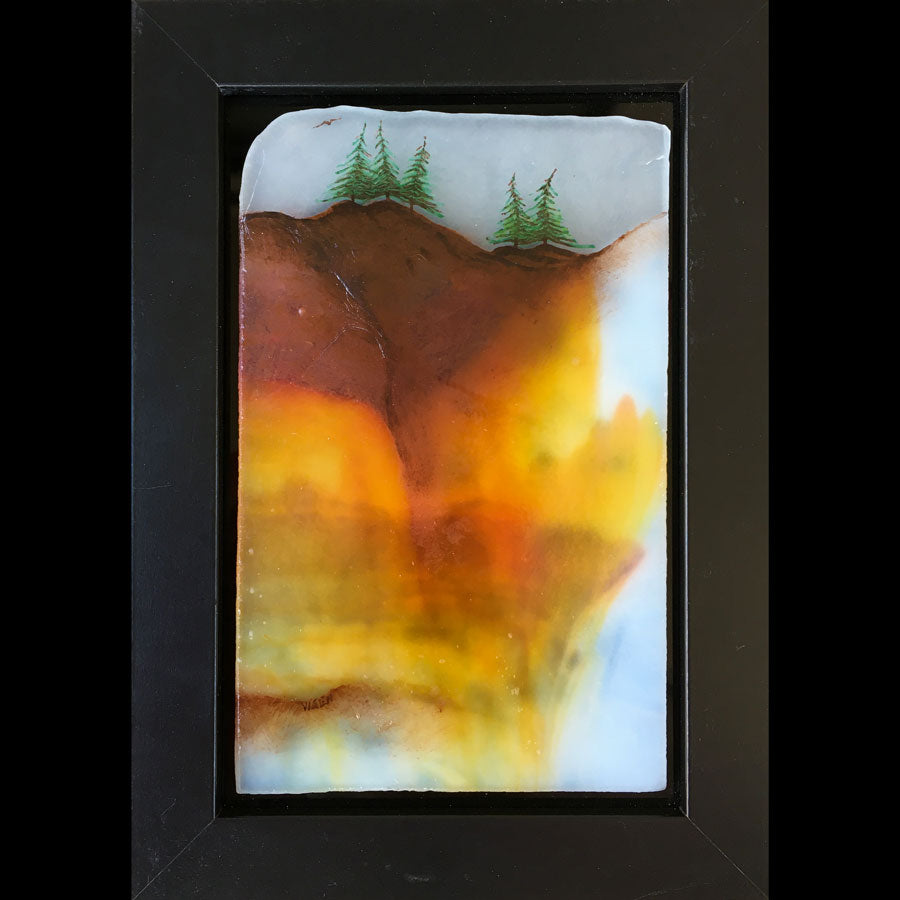 Clearly Colorful original glass fired painting by artist Gary Vigen