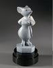 Codename White Mouse, Espadrilles bronze sculpture created by Colorado artist Ellen Woodbury