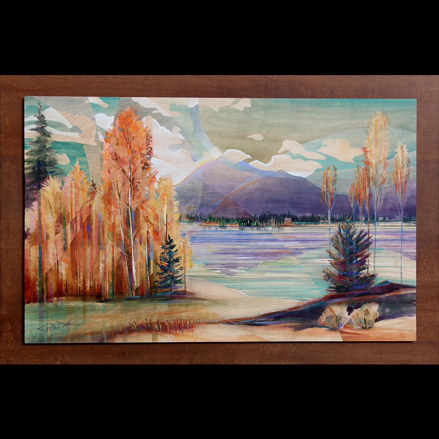 Consciousness original mountain landscape painting by Colorado artist Cynthia Duff