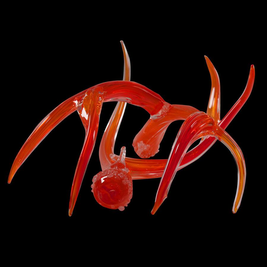 Coral Antlers were created with hand blown glass by Colorado artist Jared and Nicole Davis