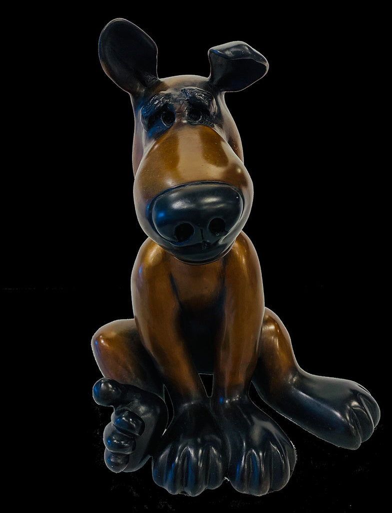 Drake Harvey Dog bronze sculpture by artist Marty Goldstein