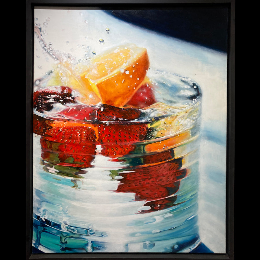 fruit cocktail soda drink original painting by noemi kosmowski for sale at raitman art galleries